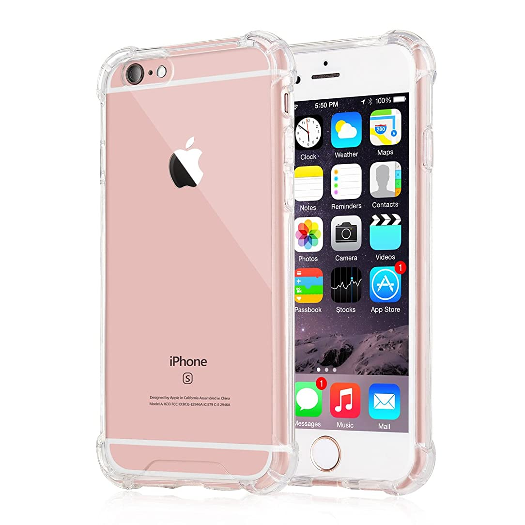 [Crystal Clear] iPhone 6 / 6s Case, iXCC New?Cover Case [Shock Absorption] with Transparent Hard Plastic Back Plate and Soft TPU Gel Bumper - Clear