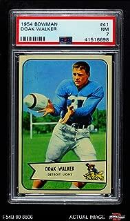 1954 Bowman # 41 Doak Walker Detroit Lions (Football Card) PSA 7 - NM Lions