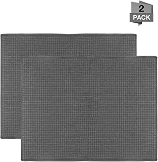 Qulable Dish Drying Mat, Microfiber Dry Pad, Quick-Drying Dish Drainer Board Mat for Kitchen Counter-top Tabletop Accessories, Machine Wash, 20
