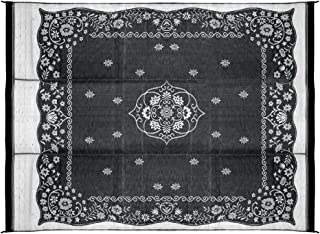 Camco Charcoal Oriental 42853 Awning Leisure Mat 9' X 12'