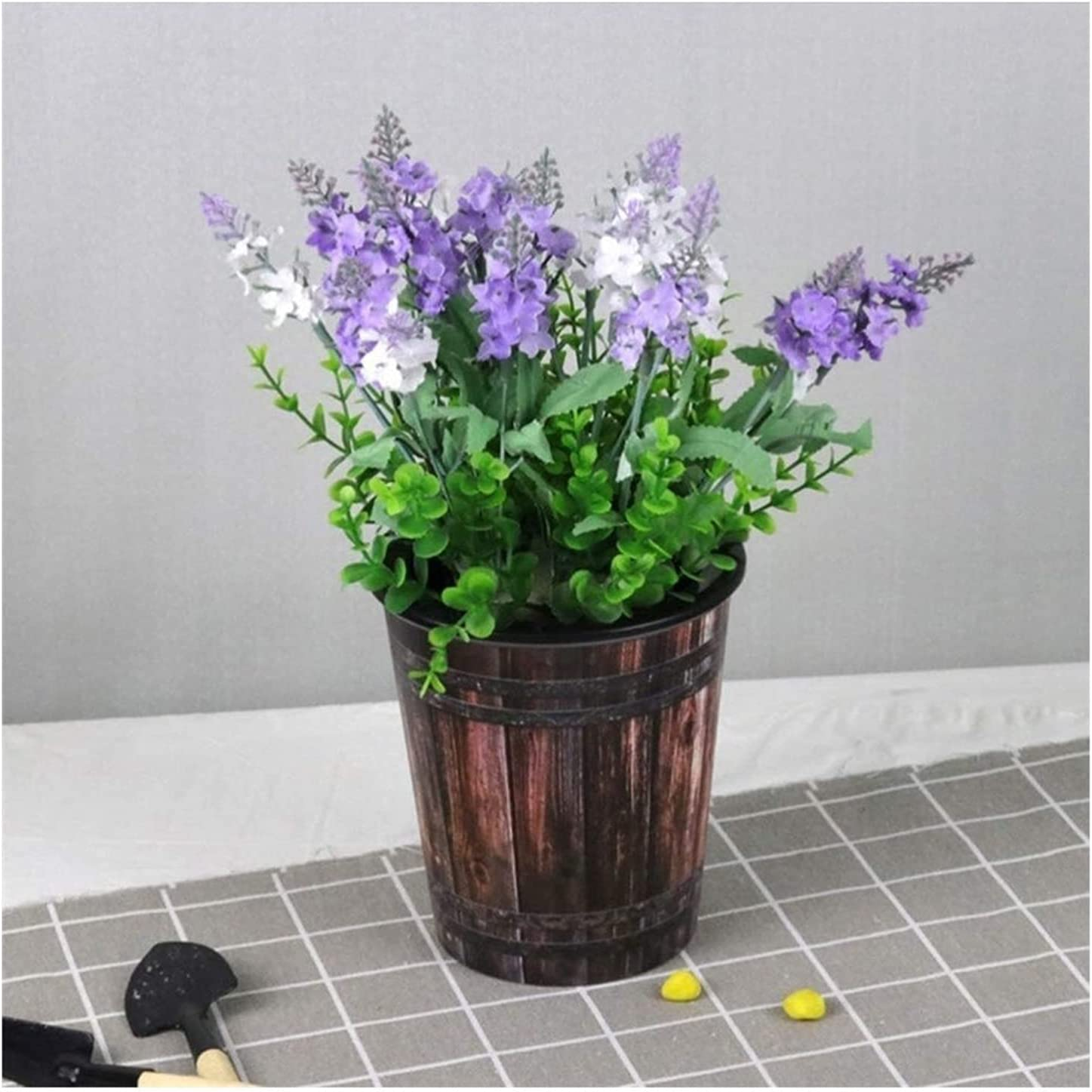 WZHONG In a popularity 2PCS Flower Pots Tampa Mall Contemporary Balco Out Indoor Poly-Resin