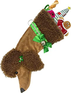 Hearth Hounds - Poodle (Brown) - Realistic Dog Stocking for Holidays, Christmas and Animal Lovers, Great Gift Bag for New Dog Owner Or Doggie Birthday