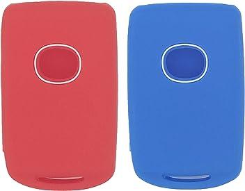 Black LemSa 2Pcs Soft Silicone Smart Remote Key Fob Cover Case Protector Holder for Mazda 3 CX-30 CX-5 Mazda 6 2019 2020 WAZSKE11D01