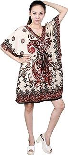 Lofbaz Women's Floral Paisley Shirt Dresses