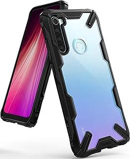جراب Ringke Fusion-X متوافق مع Redmi Note 8، ظهر شفاف متين مقاوم للصدمات مصنوع من مادة TPU - أسود