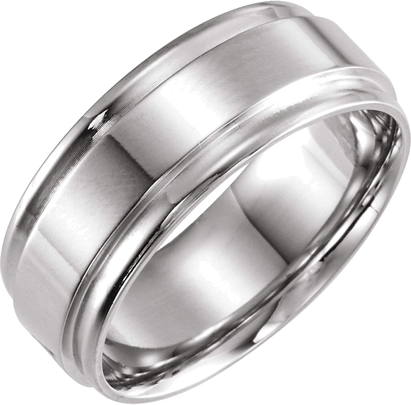 Bonyak Jewelry Solid Sterling Silver 6mm Size Edge in Flat Band Inexpensive Milwaukee Mall