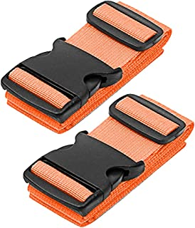 Luggage Straps - Travel Accessories TSA Approved Luggage Straps Suitcase Belts In 3 Colors Sold In 1/2/4 set By SWISSELITE … (2PCS, ORANGE)
