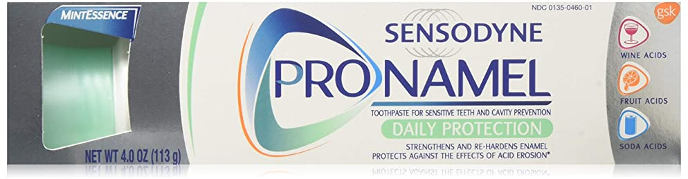 Sensodyne Pronamel Toothpaste for Tooth Enamel Strengthening, Daily Protection, Mint Essence, 4 ounce (Pack of 3) (Packaging May Vary)