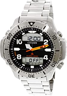 Citizen Men's Promaster JP3040-59E Silver Stainless-Steel Japanese Quartz Dress Watch
