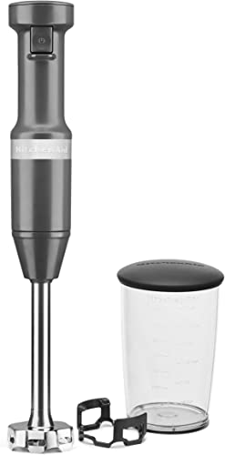 2021 KitchenAid KHBV53DG Variable Speed Corded Hand Blender, Matte discount Charcoal online sale Gray, 8 in outlet online sale