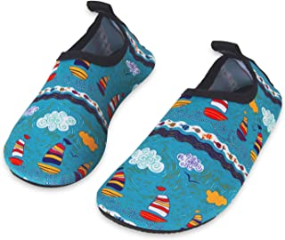 ed45ce601a81 Mabove Kids Swim Water Shoes Non-Slip Quick Dry Barefoot Aqua Pool Socks  Shoes for