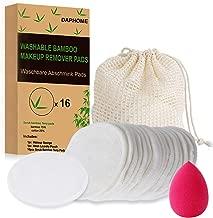 +Coton noir 4pcs 4pcs 4pcs + velours KotiCidsin Coton demaquillant lavable 16pcs丨Coton-tige R/éutilisable 丨Bo/îte demballage biod/égradable+ 2 Sac de lavage+Fibre de bambou +Coton blanc(4pcs)