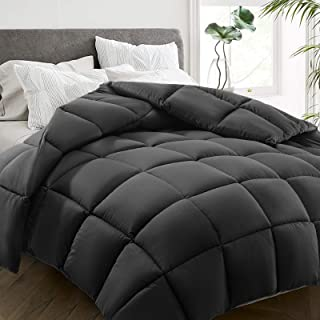 HYLEORY All Season Queen Size Bed Comforter - Cooling Down Alternative Quilted Duvet Insert with Corner Tabs - Winter Warm...
