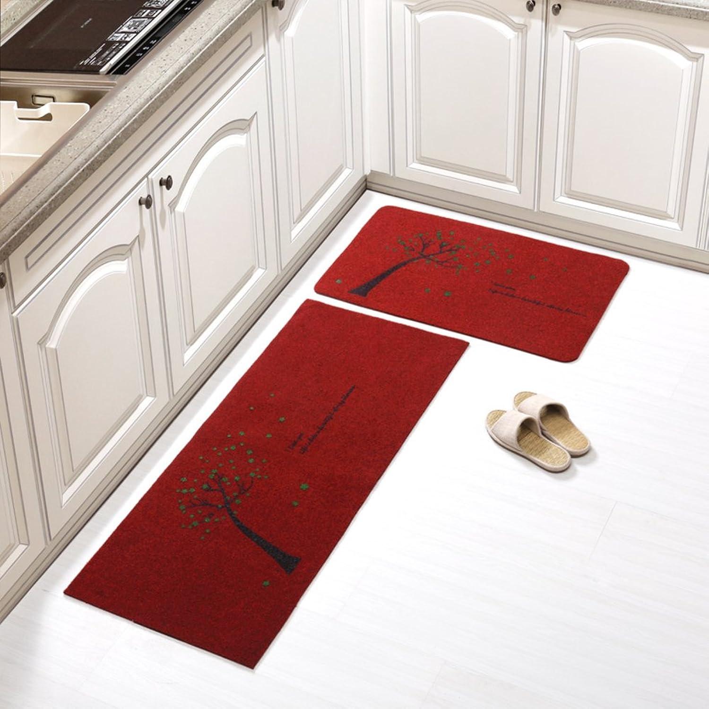 Door mat floor mats kitchen mats long strips water absorption oil absorption foot pad bathroom non-slip mat-E 50x240cm(20x94inch)