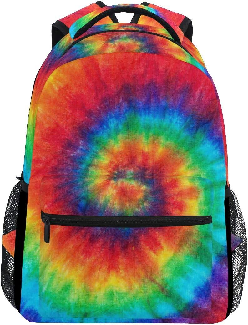 XLING Tucson Mall Backpacks Dedication Abstract Watercolor Swirl Dye Multi Tie Function
