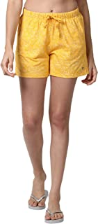 Enamor Women's Shorts (E062_Bamboo Prints_L