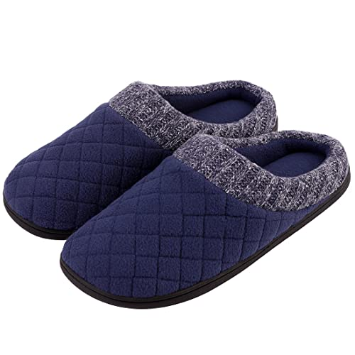 191a9b457bcc9 VeraCosy Men s Ribbed Hand-Knit Collar Slippers