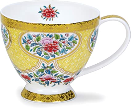 Dunoon Skye Tasse aus feinem Porzellan Agapanthus hergestellt in England