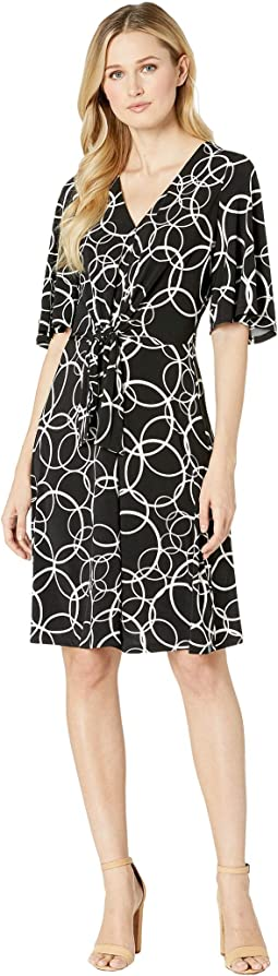 Fit & Flare Dress Tie Waist