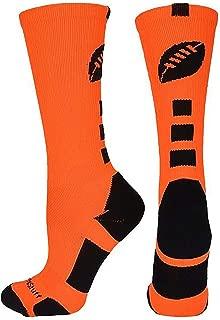 neon orange football cleats