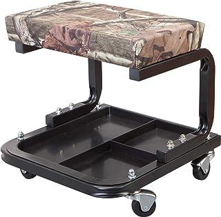 Torin TR6300MO Mossy Oak Camo Rolling Creeper Garage/Shop Seat: Banquinho mecânico acolchoado com bandeja de ferramentas