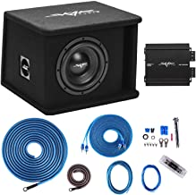 """Skar Audio Single 8"""" Complete 700 Watt SDR Series Subwoofer Bass Package - Includes Loaded Enclosure with Amplifier"""
