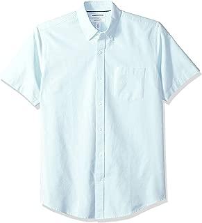 Amazon Essentials Men's Regular-Fit Short-Sleeve Pocket Oxford Shirt