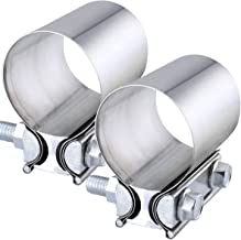 2 stainless steel exhaust clamps