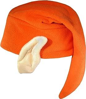 Unisex Elf Hat with Ears Costume Accessory, Orange, One Size