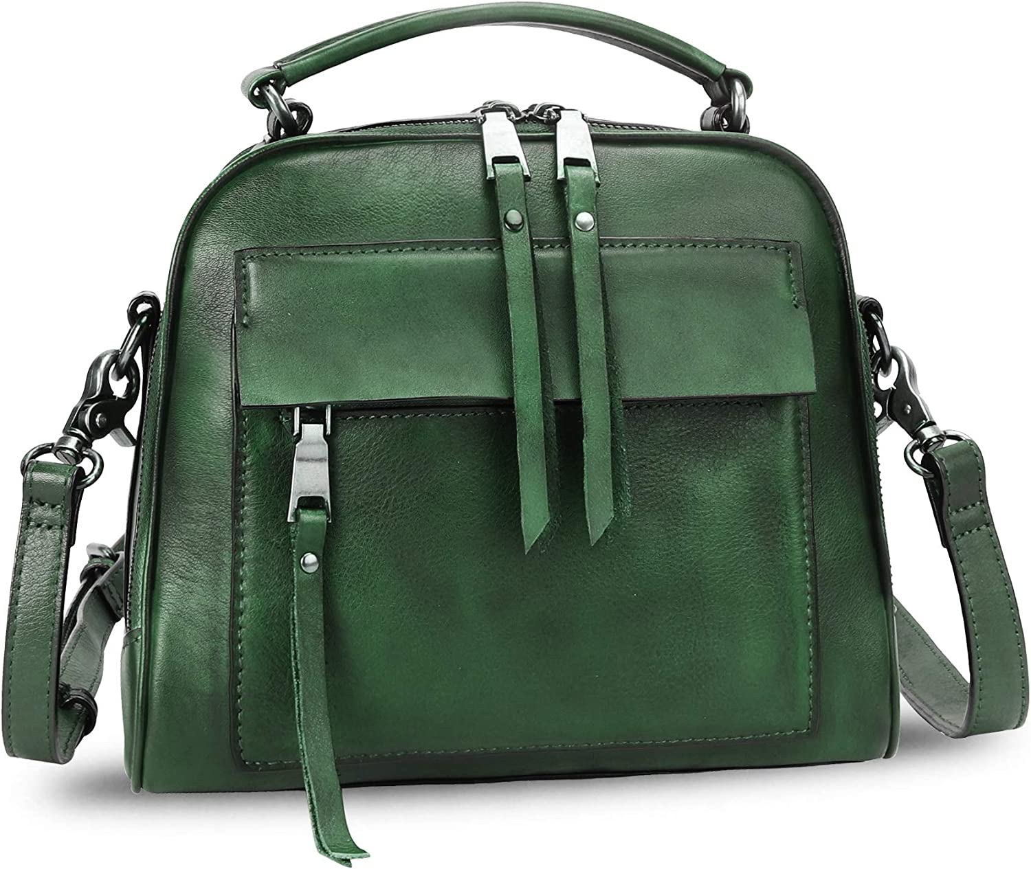 Genuine Leather Satchel Large-scale It is very popular sale Purse for Women Handmade T Retro Cowhide