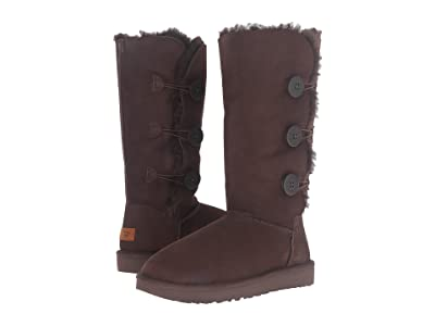 UGG Bailey Button Triplet II (Chocolate) Women