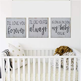I'll Love You Forever Nursery Wall Decor for Boy or Girl