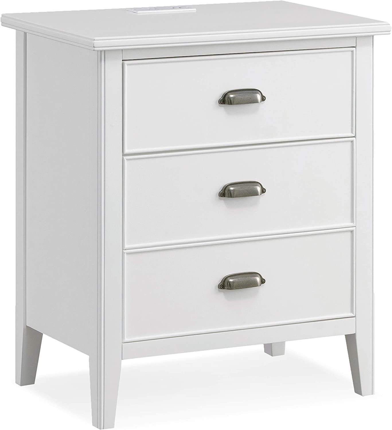 Leick Laurent Collection Nightstand, White