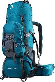 80L Mochilas de Senderismo para Montaña Multifuncional Portatil Impermeable de Nilon de Acampada Excursion para Viajes Unisex