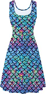 fish scale print dress