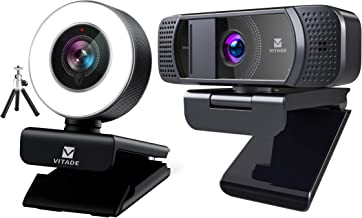Bundle: Vitade 960A Webcam 1080P with Microphone & Ring Light (Tripod Included), Vitade 672 Webcam with Microphone 1080P H...