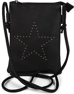 styleBREAKER Mini Bag Umhängetasche mit Nieten in Stern Form, Schultertasche, Handtasche, Tasche, Damen 02012235