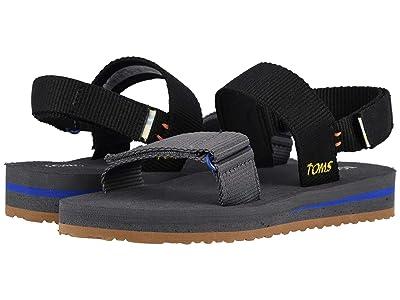 TOMS Kids Ray (Little Kid/Big Kid) (Black Solid Webbing) Boys Shoes