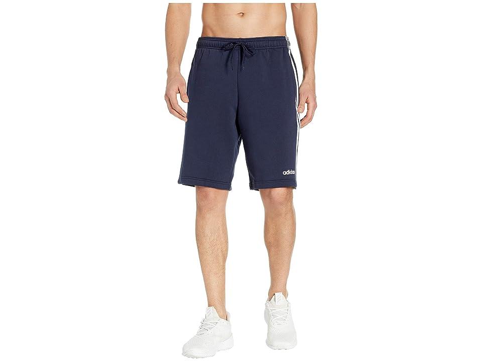 adidas Essentials 3-Stripes Fleece Shorts (Legend Ink/White) Men's Shorts