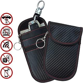 Key Fob Protector Rfid Blocking Bag, HALOViE Car Key Signal Blocking Pouch Bag, Anti Theft Key Protector Device WiFi GSM LTE NFC RF Blocker 2 Pack