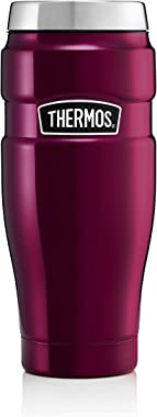 Thermos Stainless King Travel Tumbler, Raspberry, 470 ml