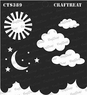 CrafTreat Stencil - Clouds and Stars 12