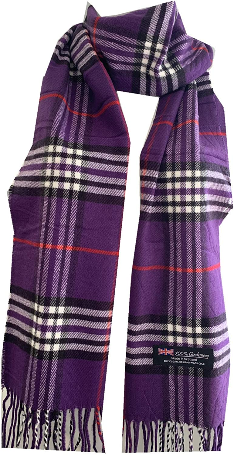 Winter Womens Mens 100% Cashmere Wool Wrap Scarf Made in Scotland Color Scarves #ZA012