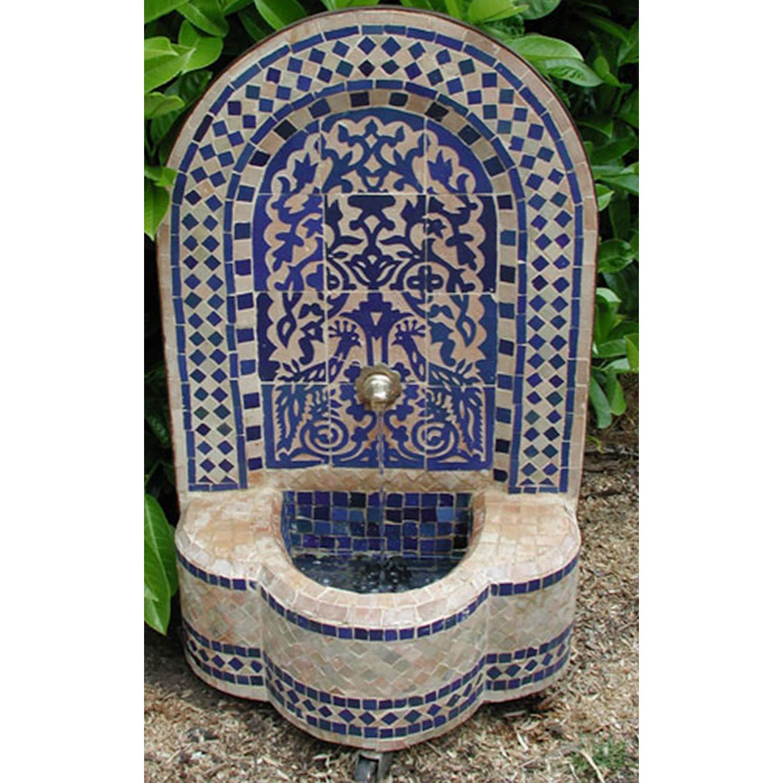 Casa Moro BR3005 - Fuente de jardín marroquí oriental, 75 x 44 cm, incluye bomba y ruedas de transporte, diseño de mosaico: Amazon.es: Jardín