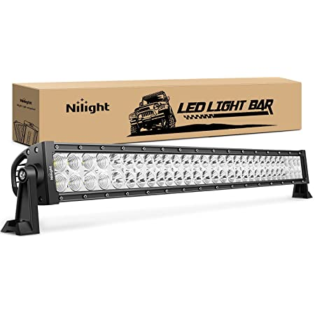 Nilight - 70004C-A LED Light Bar 32 Inch 180W Spot Flood Combo LED Driving Lamp Off Road Lights LED Work Light Boat Jeep Lamp,2 Years Warranty