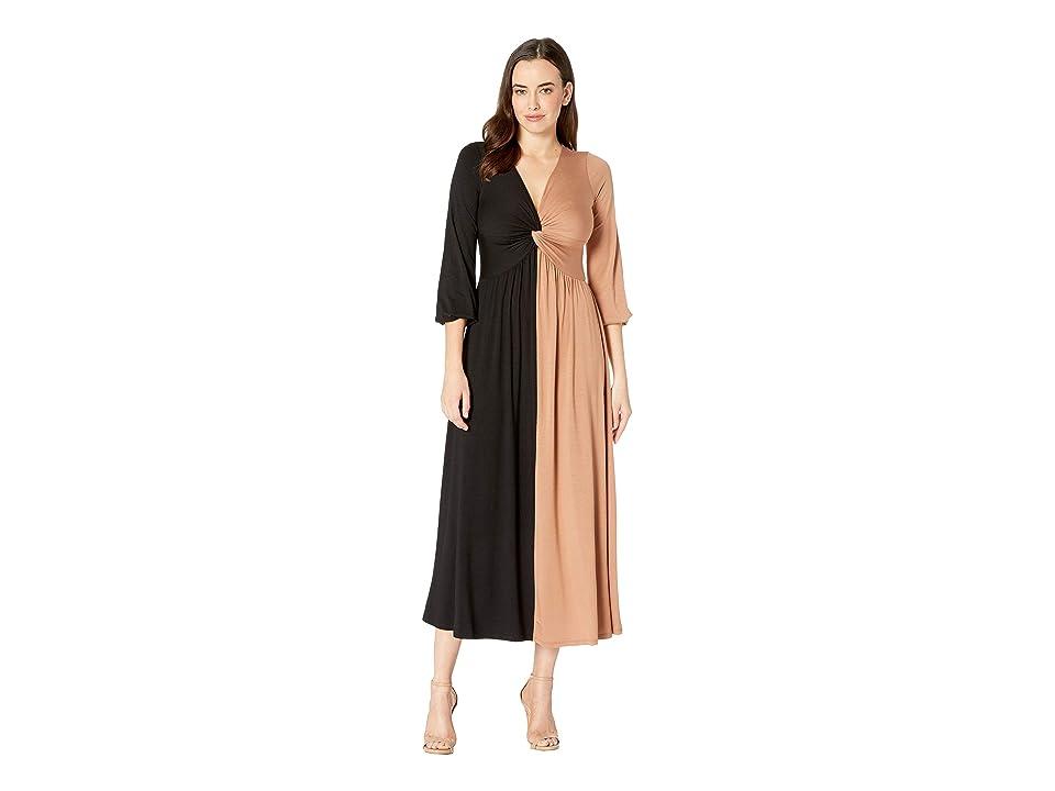 Rachel Pally Two-Tone Twist Dress (Black/Dulce Color Block) Women