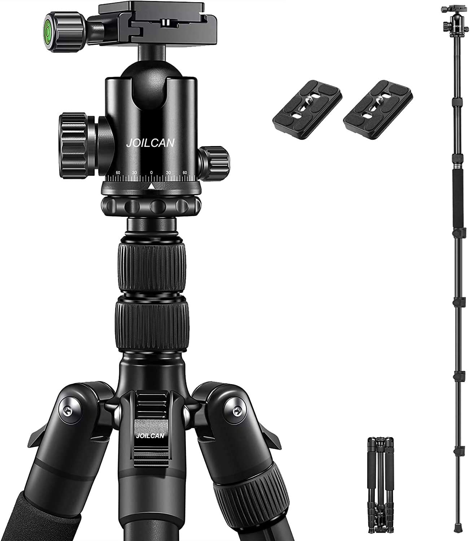 "JOILCAN 81"" Tripod, Aluminum Camera Tripod for DSLR, Compac"
