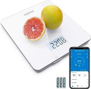 مقیاس RENPHO مواد غذایی دیجیتال ، مقیاس آشپزخانه برای پخت ، پخت و پز و قهوه با ماشین حساب تغذیه ای برای کتو ، ماکرو ، کالری و کاهش وزن با برنامه گوشی های هوشمند ، سفید