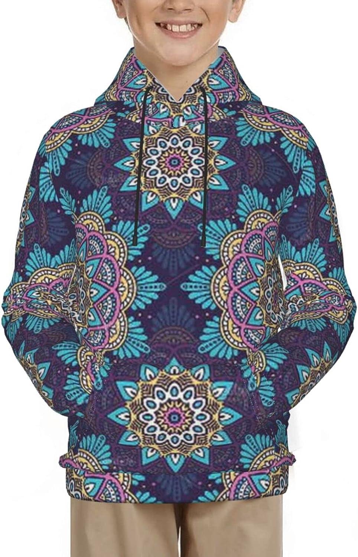 Teen Hoodies 3D Graphic Pullover Drawstring Sweatshirt for Boys