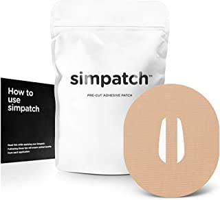 SIMPATCH – Adhesive Patch for Dexcom G6 with Strap (25-Pack) – Waterproof Adhesive, CGM Patches – Multiple Color Options